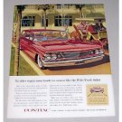 1960 Pontiac Safari Station Wagon Automobile Color Print Car Ad