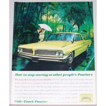 1961 Pontiac Catalina 2 Door Automobile Color Print Car Ad