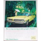 1961 Pontiac Catalina 2 Door Automobile Color Print Car Ad