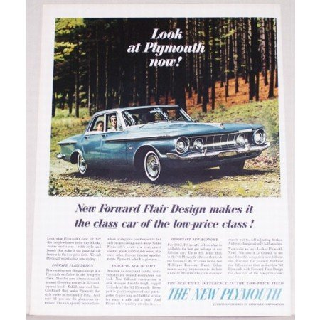1962 Plymouth Fury 4 Door Automobile Color Print Car Ad
