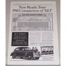 1941 Plymouth Sedan Automobile Vintage Print Car Ad - 1941 Comparison Of All 3