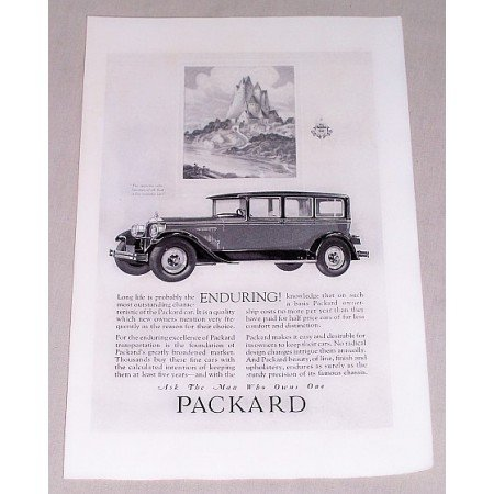 1925 Packard 4 Door Automobile Vintage Print Car Ad - Enduring