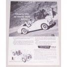 1959 Triumph TR-3 Convertible Automobile Vintage Print Car Ad