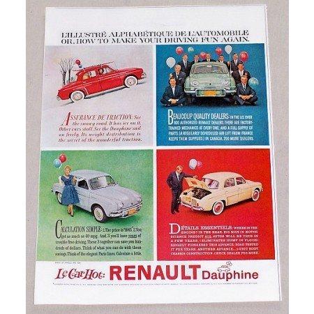 1960 Renault Dauphine Automobile Vintage Print Car Ad - Le Car Hot