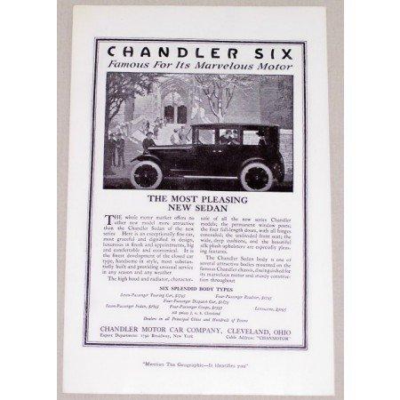 1919 Chandler Six Sedan Automobile Vintage Print Car Ad - Most Pleasing