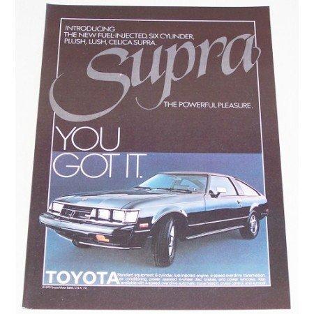 1979 Toyota Celica Supra Automobile Color Print Car Ad