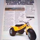 1980 YAMAHA Tri-Moto 125 All-Terrain 3 Wheeler Vehicle Vintage Color Print Ad
