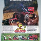 1980 SNAPPER Garden Tractor Vintage Color Print Ad