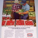 1973 TEXACO Vintage Color Print Ad Vegetable Stand