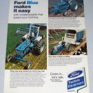 1973 FORD 4000 5000 Farm Tractors Vintage Color Print Ad