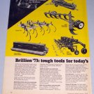 1973 BRILLION Farm Implements Vintage 2 Page Color Print Ad