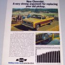 1973 CHEVROLET Cheyenne Super Pickup Truck Vintage Color Print Ad