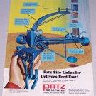 1973 PATZ Silo Unloader Vintage Color Print Farming Ad