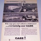 1966 CASE 650 Self Propelled 550 Pull Type Windrower Vintage Print Ad