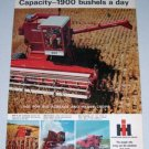 1966 IH INTERNATIONAL HARVESTER 503 Combine 2 Page Color Print Ad