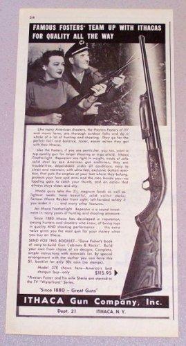 1958 ITHACA Model 37R Pump Shotgun Print Ad
