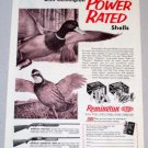 1958 REMINGTON Power Rated Shells Hunting Duck Bird Art Print Ad