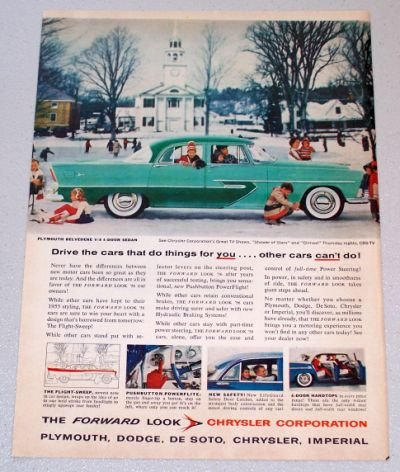1956 PLYMOUTH Belvedere 4DR Sedan Automobile Print Car Ad