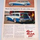 1956 BUICK Estate Wagon Automobile Color Art Print Car Ad