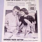 1956 LUCKY STRIKE Cigarettes Dish Washing Print Ad - His and Hers