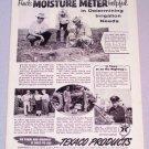1956 TEXACO Products Moisture Meter Print Ad