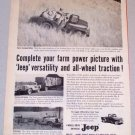 1956 Willys Universal JEEP Transportation Print Ad