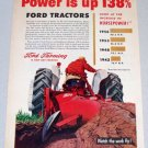 1956 FORD Farming Drawbar Horsepower Color Art Print Ad
