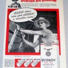 1956 VICEROY Cigarettes Tobacco Print Ad Robert W. Slager