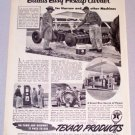 1956 TEXACO Products Harrow Disk Print Ad