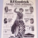 1956 B.F. GOODRICH Tires Print Ad FARM TIRE RODEO
