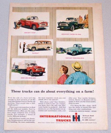 1956 IH INTERNATIONAL Trucks Color Print Ad