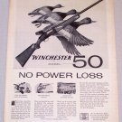 1956 WINCHESTER Model 50 Shotgun Duck Animal Art Print Ad