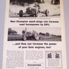 1956 CHAMPION Spark Plugs Pikes Peak Race Print Ad Racing Celebrity Bob Unser