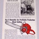 1956 HOMELITE 5-20 Power Chain Saw Print Ad E.R. Farmer Rumford Va
