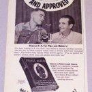 1956 PRINCE ALBERT Pipe Tobacco Print Ad Eulos Naylor Winn Sowell