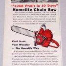 1956 HOMELITE EZ Power Chain Saw Print Ad Felix Philip Svoboda Meadowland Minn