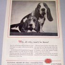 1957 Fire Underwriters Capitol Stock Insurance Beagles Dogs Animal Print Ad