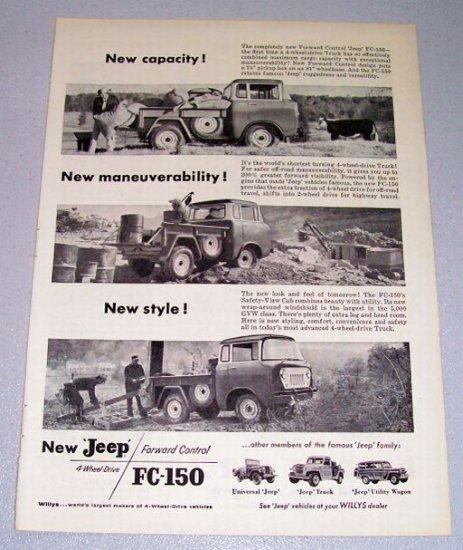 1957 Willys JEEP FC150 Pickup Truck Print Ad