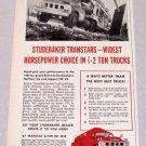 1957 STUDEBAKER Transtar Truck Print Ad