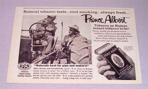 1957 PRINCE ALBERT Pipe Tobacco Print Ad Eldon Wesson Arnold Kirby