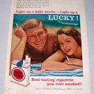 1958 Lucky Strike Cigarettes Tobacco Print Ad - When You Settle Down