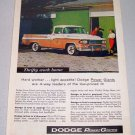 1958 Dodge 100 Pickup Truck Color Art Print Ad