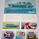 1958 Plymouth 6 Passenger Station Wagon Automobile Color Print Car Ad