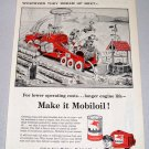 1956 Mobil Oil Ray Crosby Art Print Ad - Dewdrop Irrigator