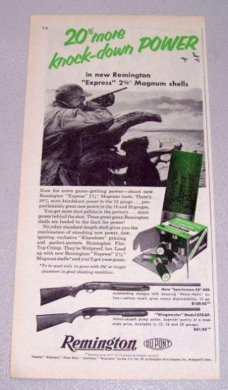 1956 Remington Express Magnum Shotgun Shells Print Ad