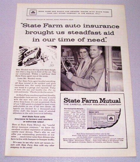 1956 State Farm Auto Insurance Print Ad