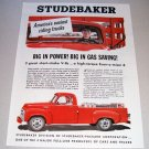1955 Studebaker Pickup Truck Color Print Ad