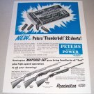 1955 Peters Thunderbolt 22 Short Cartridge Shells Print Ad