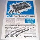 1955 Peters Thunderbolt 22 Short Cartridge Shells Print Ad