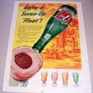 1955 7UP Soda Float Color Art Print Ad